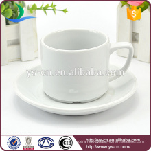 Round white cup and saucer holder