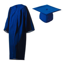 2016 Atacado Personalizado Poliéster Graduação Vestidos