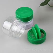 Frasco plástico do animal de estimação com tampa da aleta para o pó do talco (PPC-PSB-63)