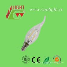 Lúmens altos E14 2W / 4W 3000k ou lâmpada da luz do diodo emissor de luz do filamento 6500k