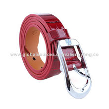 Shiny Red Rhinestone Buckle Belt for Summer Dresses, OEM/ODM Services ProvidedNew