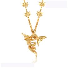 43313 alta calidad xuping collar de moda 18K color oro lujoso Flying dragon forma collar de moda