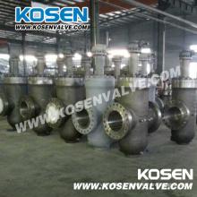 Fonte d'acier par l'intermédiaire de conduits dalle vanne (Z543)