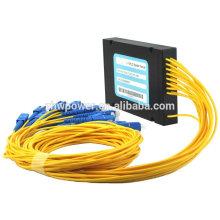 Bon prix Type de cassette Pack SC / UPC fibre optique séparateur API avec connecteur SC 1 * 12