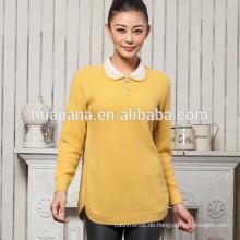 Fabrik, die Kaschmirjacquard-Pullover der Frauen produziert