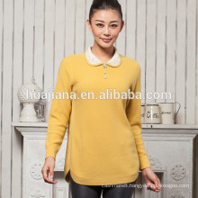 factory producing women's cashmere jacquard sweater