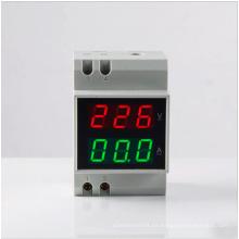 2015 Doble Rin-Rail D52-2042 Medidor de Voltaje Digital Voltaje de la CA Voltaje de la CA Corriente AC Meter Amperímetro