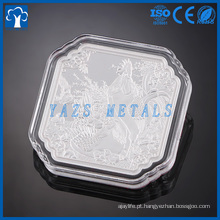 Moeda de metal personalizada moeda de prata