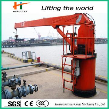 Marine-Kran mit hydraulisch teleskopierbaren Ausleger 1 t