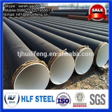 Revêtement de bitume Tuyau d'acier soudé en spirale pour projet de structure