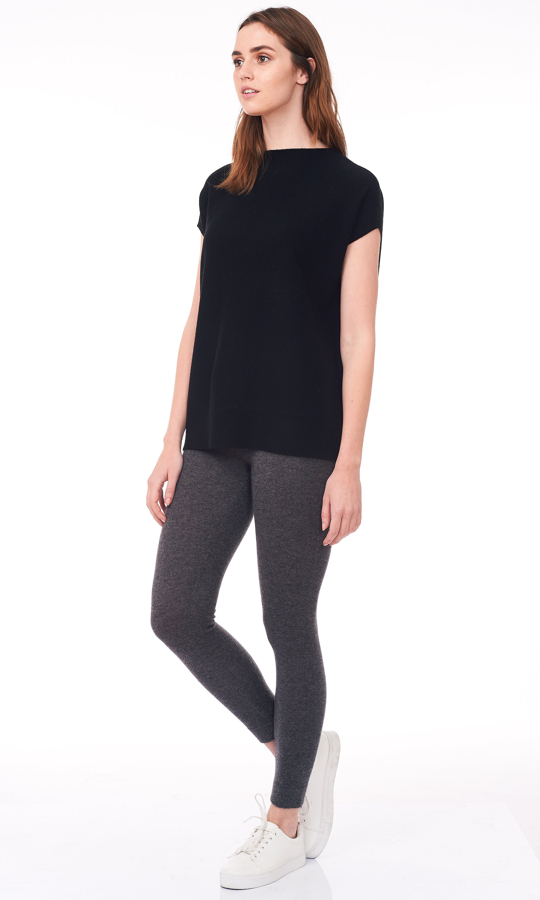 balck short dolman sleeve sweater side