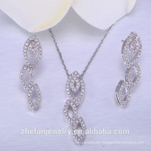 La joyería brasileña más nueva de la boda 925 de la plata esterlina fija la joyería de traje