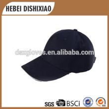 Casquette de baseball masculin casquette de sport et matériel de coton chapeaux et casquettes noires de sport