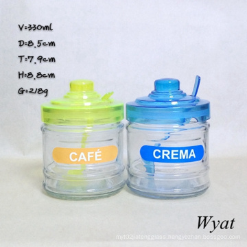 330ml Glass Ice-Cream Jar with Lid 12oz Glass Icecream Jar Glass Jar
