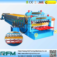 FX automatic double layer roofing sheet grooving machinery