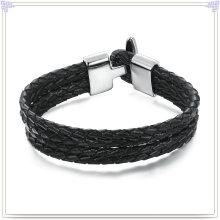 Moda jóias de couro pulseira de couro da jóia (lb051)