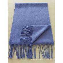 mezcle el 50% de la cachemira el 50% de lana llanura llana bufanda azul claro