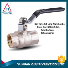 """TMOK 1'' Female pt thread forged brass ball valve with """"PN40 Italy"""" on the body for water gas and oil ISO CE approved"""