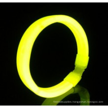 yellow wide glow bracelet