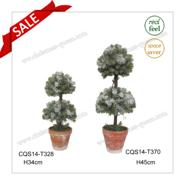 13 Inch Plastic Flowers Trees Plant Fiberglass, Outdoor Artificial Tree