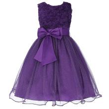 Grace Karin Girls 3D Flower Wedding Bridesmaid Party Princess Dress CL008977-2