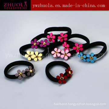 Black Hair Ornament with Flower for Women