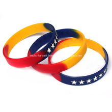 Budget Infilled Segment Adult Silicone Wristbands