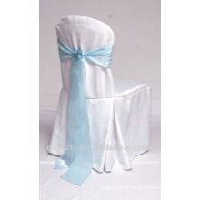 charmante couverture de chaise de polyester visa avec organza sash pour mariage et banquet