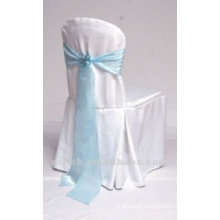 charming polyester visa chair cover with organza sash for wedding and banquet