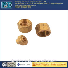 High strength cnc machining m2.5 brass nut