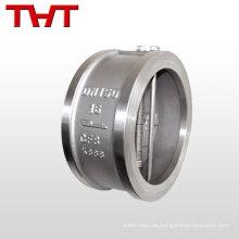 Entrega rápida excelente rendimiento de retención DN50-DN900 válvula de retención de oscilación de oblea de doble placa