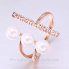 Rabatt Ring Perle Perle Schmuck Süßwasserperlen Ring mit Rhodinierung