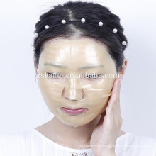 máscara de renda de hidrogel de colágeno ouro