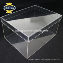 JINBAO clair Plexiglass Shoe Display Case acrylique boîte à chaussures usine
