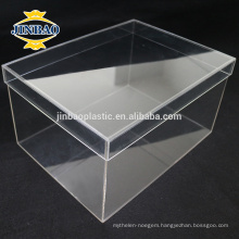 JINBAO Clear Plexiglass Shoe Display Case factory Acrylic Shoe Box
