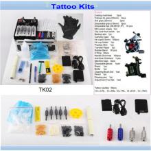 Kit profesional barato al por mayor del tatuaje con la calidad Tk02 de la marca de fábrica
