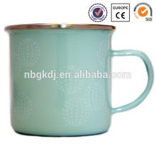 enamel drinkware pure free joyshaker cup with SS handle