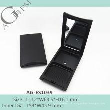 Caliente venta Rectangular compacto polvo caja con espejo AG-ES1039, empaquetado cosmético de AGPM, colores/insignia de encargo