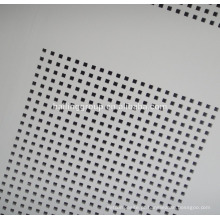 Placa de gesso PVC placa de gesso perfurado projeto placa de teto