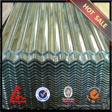 Tôle d'acier ondulé GI / tôle d'acier galvanisée / toiture en métal