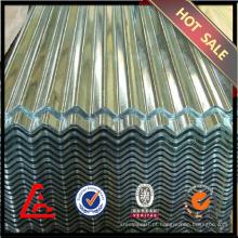 GI chapa de aço ondulado / chapa de aço galvanizado / metal coberturas