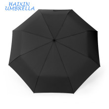 "23""*8K 190T Pongee Material Waterproof Windproof 3 Fold Auto Open Promotional Umbrella Rain with Logo Prints"