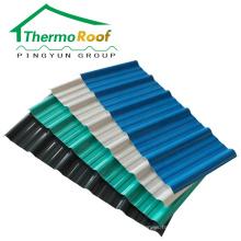hoja de techo de PVC resistente a los rayos ultravioleta para casas prefabricadas