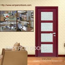 4. CE dormitorio baratos de plástico madera puerta Interior de madera