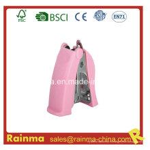 Mini grapadora de plástico de alta calidad rosa