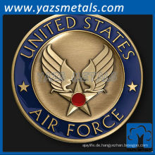fertigen Metallmünze an, Wings fordern Münze mit Emaillierung