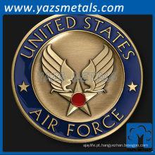 personalize moeda de metal, Wings desafia moedas com esmalte