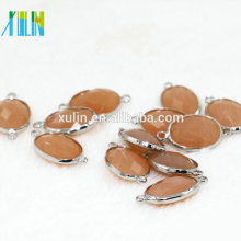 XULIN K9 Glasperlen schneiden facettierte rechteckige Form Kristall Perlen Rubin Edelstein Stein Schmuck Stecker CA002