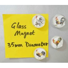 Souvenir Artwork Printing Glass Magnet Gifts