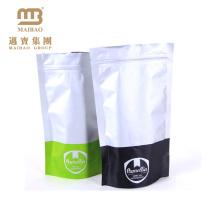 A impressão a cores feita sob encomenda de Guangzhou Maibao Ziplock levanta-se sacos de prata da folha de alumínio para o empacotamento de alimento
